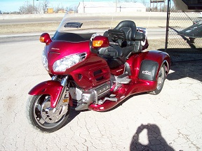 Custom RV Inc -Trikes-Honda 1800 Goldwing California Sidecar