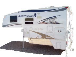 side view of Arctic Fox truck camper