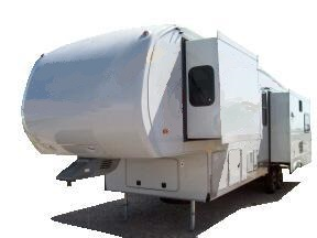 frontal view of Aztec fifth wheel