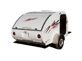 Back side view of Teardrop Trailer
