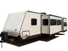 Surveyor travel trailer with two slide outs