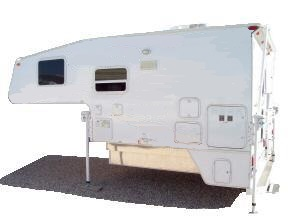 side view of truck camper